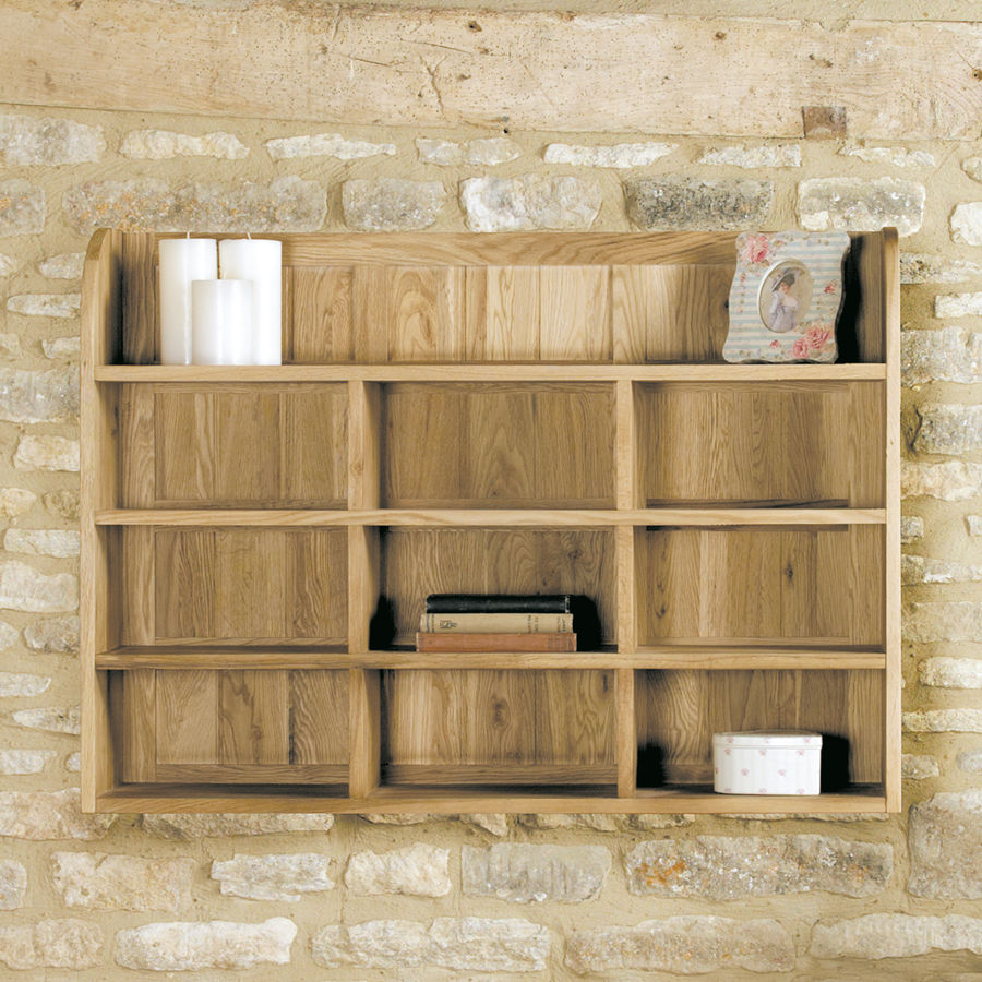 Mobel Light Oak Reversible Wall Rack Wooden Furniture Store