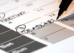 Calendar with a deadline for DBS checks