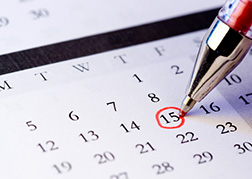 Date for reporting a statutory incidents