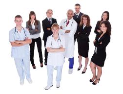 Hospital Workforce looking professional