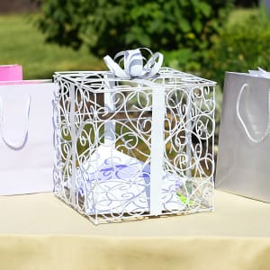White Reception Gift Card Holder