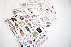 Bloom Wedding Planning Stickers