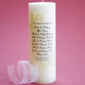 French Lace Large Wedding Memorial Candle