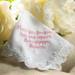 To Dry Your Tears ... Scalloped Lace Hanky