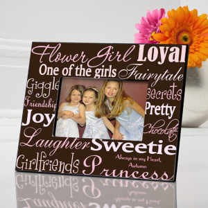 Personalized Flower Girl Frame, Available in Six Colorful Styles