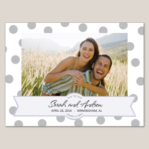 Polka Dots Save the Date Magnet