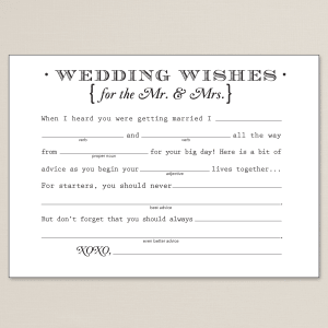 Vintage Wishes Wedding Libs