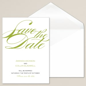 Sophisticated Script Save the Date Card