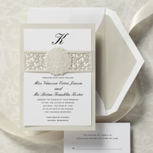 Floral Elegance Wedding Invitation
