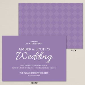 Marvelous Bold Checker Wedding Invitation