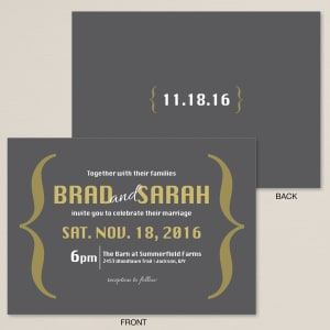 Boldly Stated Wedding Invitation