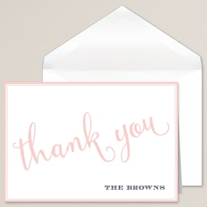 Dashing Love Thank You Note