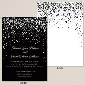 Evening Sparkle Wedding Invitation