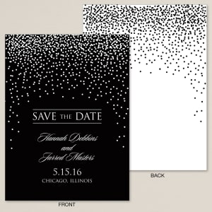 Evening Sparkle Save the Date Card