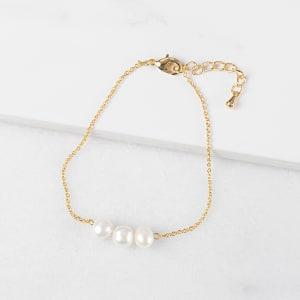 Three Pearl Bracelet