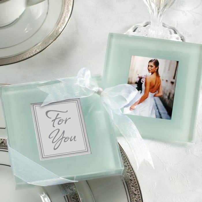 Photo Drink Coaster Wedding Favor Exclusively Weddings