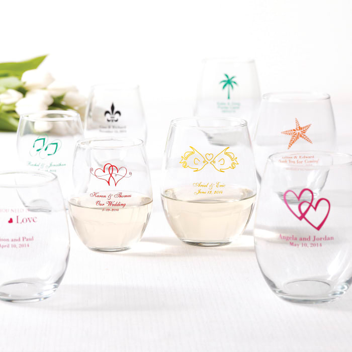 personalized wine glass affordable favor exclusively weddings