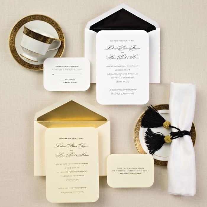 Simple Elegance Wedding Invitation   Exclusively Weddings