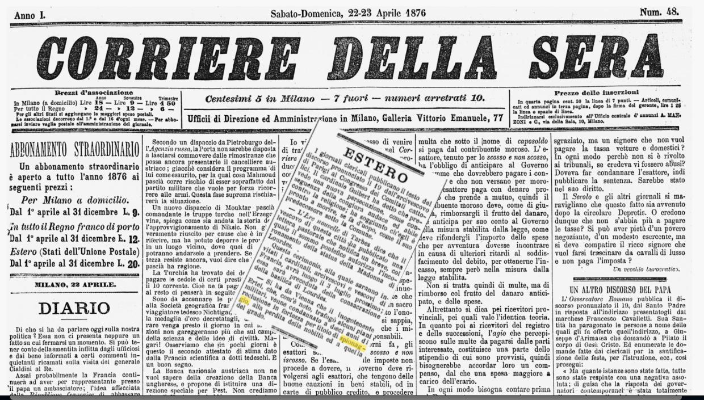 I primi casi di spionaggio nell'archivio digitale del Corriere della Sera