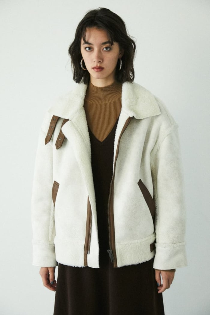 OVER SIZED FAUX SHERLING JACKET