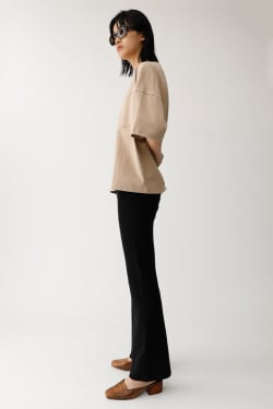 RIB KNIT FLARE STRAIGHT Pants