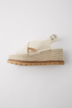 PLATFORM CROSS sandals