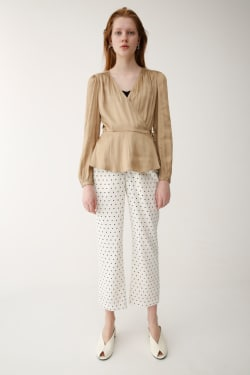 SATIN WRAP blouse