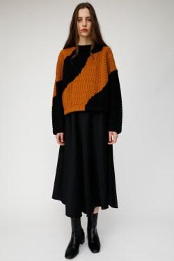 WAVE COLOR BLOCK Knit