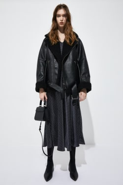 Faux LEATHER OVER SIZED Jacket