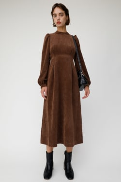 CORDUROY PUFF SLEEVE dress