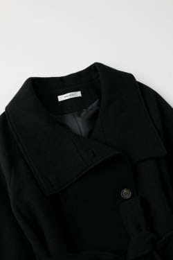 STAND COLLAR WOOL trench coat