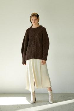 DRAPY LONG skirt