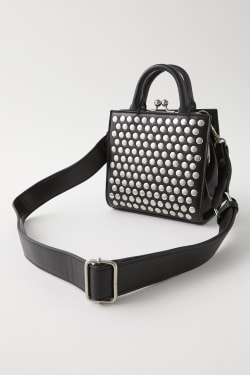 STUDDED CLASP SHOULDER bag