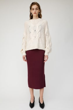LOW GAUGE CABLE KNIT TOP