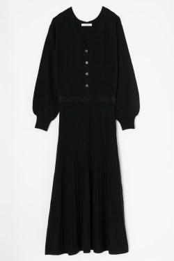 BLOUSING FLARE KNIT dress