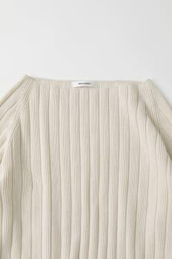 FOLD BACK WIDE SLEEVE Knit