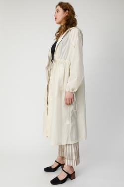DRAWSTRING LONG coat