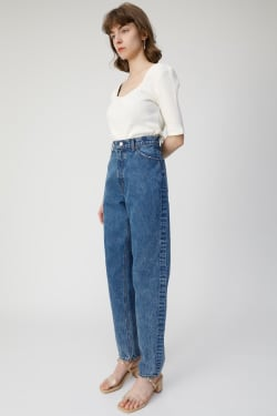 High Waisted CHEMICAL WASH TAPERED
