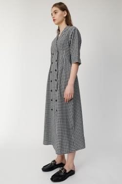 TAILOR COLLAR CHECK shirt dress