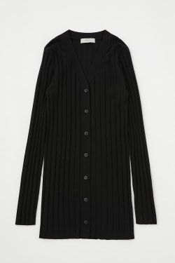 [M_] RIB KNIT LONG cardigan