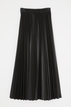 Faux LEATHER PLEATS skirt