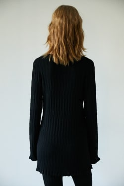 WIDE RIB KNIT TUNIC