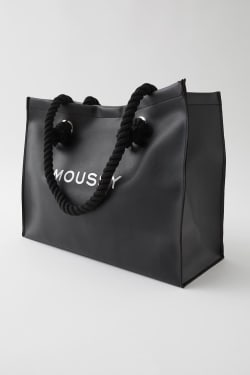 MOUSSY FAUX LEATHER SHOPPER BAG