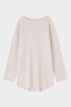 SLIT RIB knit tunic