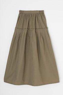 TIERED TUCK skirt