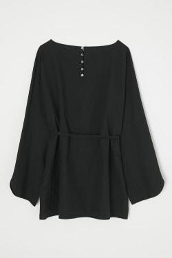 [M_] LINEN MIX SIMPLE blouse