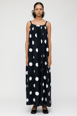 MV DOT GATHERED DRESS