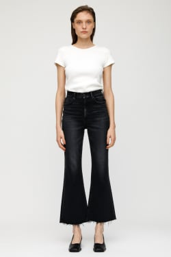 MV GRANBY STRETCH FLARE HIGH-WAISTED JEANS