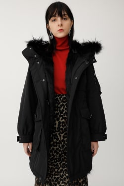 OS NY COLOR FUR COCOON MODS COAT