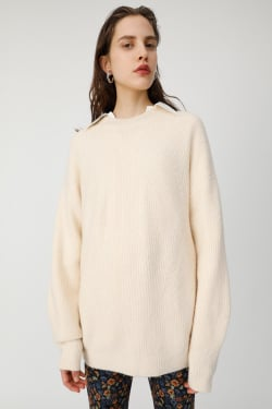 MIDDLE NECK knit tunic
